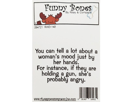 Riley & Company Funny Bones Rubber Cling Sentiment Stamp #RWD-145