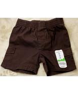 Jumping Beans Toddler Boys Chocolate Brown Shorts Elastic Waist 12mo - $4.99