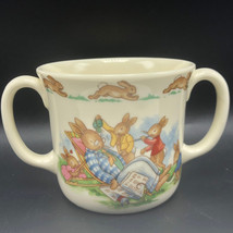 ROYAL DOULTON BUNNYKINS MUG CUP 1936 antique England bone china 2 two ha... - $25.74