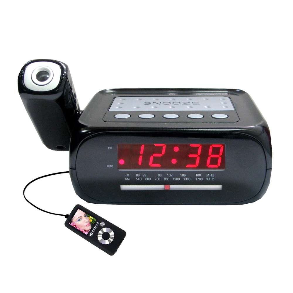 Supersonic Digital Projection Alarm Clock with AM/FM Radio