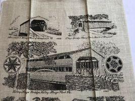 VTG NOS Kay Dee PENNSYLVANIA COVERED BRIDGES Linen Tea Towel image 5