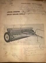 Vintage JD John Deere DR-B Grain Drill Predelivery Instructions Manual - $29.95