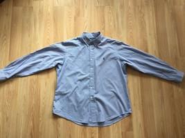 Ralph Lauren blue check long sleeve button front shirt men's sz XXL - $15.84