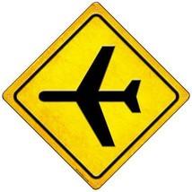 Airplane Novelty Mini Metal Crossing Sign MCX-588 - $12.95
