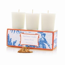 Seda France Classic Toile French Tulip Votive Candles - $27.95
