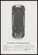 VW Beetle Bug Even the bottom looks funny VW 1965 Photo AD Volkswagen - $14.99