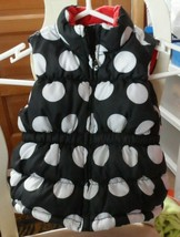 Girls Black puffer vest with white polkadots and red bow side XS (3-4) Gymboree - $12.00