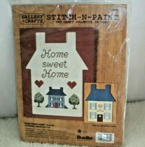 Vintage Bucilla Counted Cross Stitch N Paint Home Sweet Home Craft Proje... - $13.36