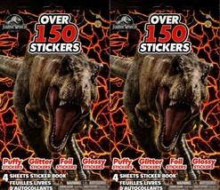 Jurassic World  - Over 150 Stickers 4 Sheet Sticker Book (Set of 2) - $12.86