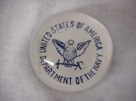United States of America Department of The Navy Vintage Glass Paper Weight - $29.65