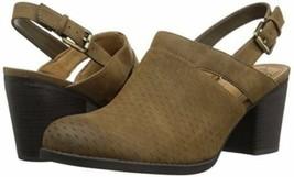 $80 Natural Soul Olive Brown Tally Mule Naturalizer Slingback Heeled Clog Shoes - $35.97