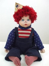 """1980's Patriotic Raggedy Andy Doll Knit Sweater Socks Corduroy Pants 19""""... - $74.20"""