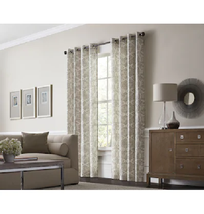 allen + roth Lapeer 84-in Shore Cotton Light Filtering Single Curtain Panel - $24.74