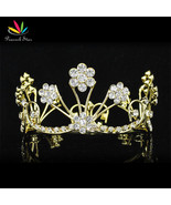 New Born Baby Gold Color Flower Mini Crown Photo Prop Tiara CT1806 - $20.70