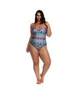 NEW KENNETH COLE Reaction One Piece Swimsuit 3X bandeau plus sized - $66.92