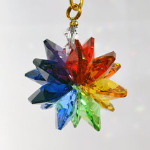 Small Colored Crystal Suncluster Ornament image 4