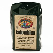Organic Fair Trade Colombian Whole Bean Coffee (16 ounce) - $14.99