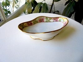 Nippon Ceramic Gold Laced Hand Painted Small Bowl Signed - $14.85