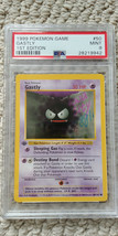 Pokemon Gastly 50/102 1st Edition Base Set PSA 9 1999 Pokemon Game Shadowless - $37.99