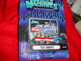 Muscle Machines '55 Chevy Red White & Blue 02-74 Mip Free Usa Shipping - $11.29