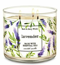 Bath & Body Works Lavender 3 Wick Scented Candle 14.5 oz - $30.84