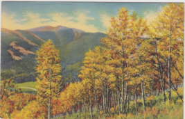 When Autumn Paints The Trees And Hills In Magic Colors Postcard 1939 Gun... - $2.69