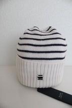 G Star Raw Correctline CL Justin Stripe Beanie Hat in Milk BNWT 100% Authentic - $39.75