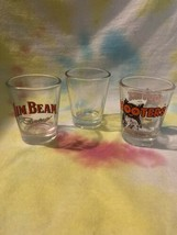 NICE!! Lot of 3 Shot Glasses-Hooters, Jim Beam and Clear-VINTAGE!!! NICE!!! - $3.99