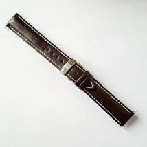 Brown Leather Strap Watchband for Tissot PRS200 T461 T067417A 19mm white... - $47.52