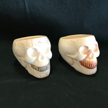 Royal Norfolk Skull Dishes Cups Vases Set of 2 Different Paint on Each S... - $37.99