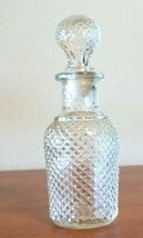 VTG. Avon Clear Glass Hobnail Apothecary Decanter Bottle Marked 13 6 0z ... - $11.88