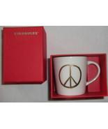Starbucks Gold Peace Sign Mini Mug 2015 3 oz Espresso  In Box Limited Ed... - $14.99