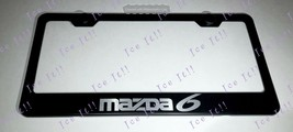 Mazda 6 Stainless Steel Black License Plate Frame Rust Free Caps - $13.37