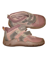 US 8 Toddler Girl's Autumn Hook & Loop Boots Faded Pink Gray Suede Size ... - $16.99
