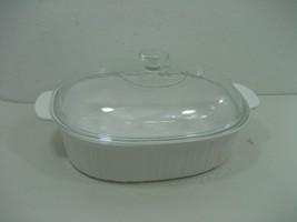 Corning Ware Oval 4 Liter F-14-B French White Casserole Dish & F14C Glass Lid - $18.65