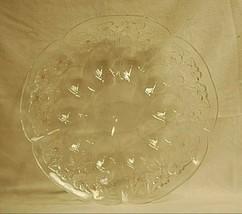 Vintage Devilled Egg Serving Plate Platter Dish Clear Glass & Pink Hue F... - $39.59