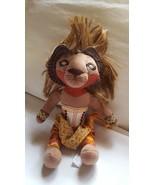 "10"" Disney The Lion King Broadway Simba Stuffed Animal Doll pre-owned ki... - $13.98"