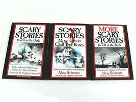 Scary Stories to Tell in the Dark 3 Book Set Childrens Alvin Schwartz Mo... - $23.63