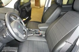 Land Rover Discovery 3 2006-> SEAT COVERS PERFORATED LEATHERETTE eco-lea... - $173.25