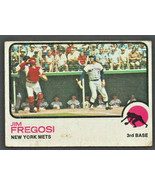 New York Mets Jim Fregosi 1973 Topps Baseball Card #525 good - $0.65