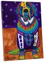 "Pingo World 0414Q5UX0MY ""Heather Galler Saint Bernard Dog"" Gallery Wrapp... - $53.41"