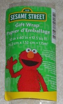 Sesame Street Elmo Cookie Monster Shower Gift Wrapping Paper 12.5 Sq Ft... - $6.50