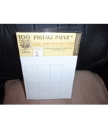 100 Proof Press Postage Paper 15 Black Ungummed Stamp Sheets  Style 5 - $9.99