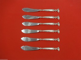 "Romance of the Sea by Wallace Sterling Silver Trout Knife Set 6pc Custom 7 1/2"" - $469.40"