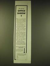 1933 Kellogg's Kaffee-Hag Coffee Ad - Are you an Office Shrew? - $14.99
