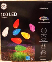 GE 100 LED C5 String Lights Color Effects Multi-Function w/ Remote, Mult... - $44.98