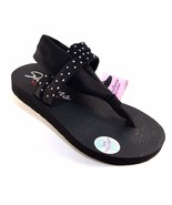 Skechers 38612 Black Yoga Foam Thong Sandals - $39.20