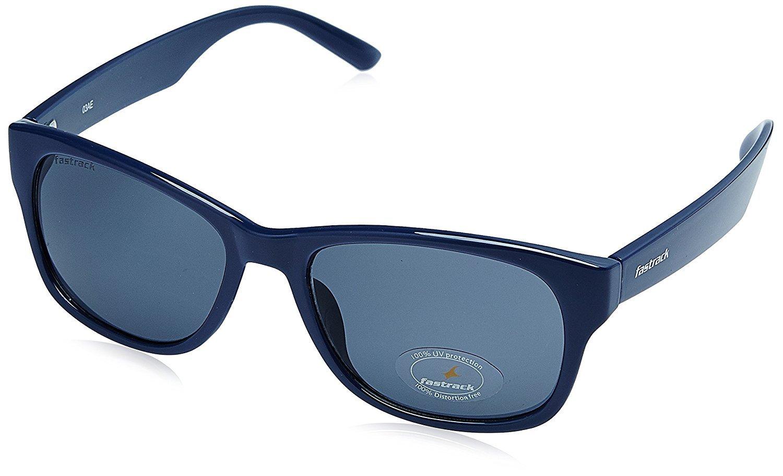 Fastrack UV Protected Unisex Sunglasses (PC001BK21|53 millimeters|Grey)