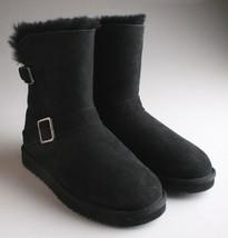 Kirkland Signature Ladies Black Sheepskin Shearling Winter Buckle Boot