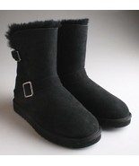 Kirkland Signature Ladies Black Sheepskin Shearling Winter Buckle Boot - $16.95